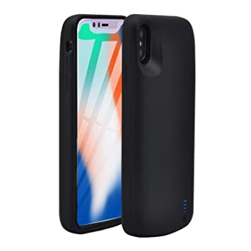 HQXHB Funda Batería para iPhone XR,6000mAh Funda Cargador Portatil Batería Externa Ultra Carcasa Batería Recargable Power Bank Case para Apple iPhone ...