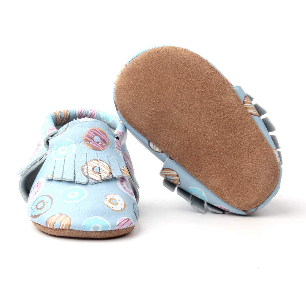 Starbie Anti-Slip Baby Moccasins for Infant /& Toddlers 15 Colors Boys /& Girls Baby Leather Shoes Light Blue Baby Shoes