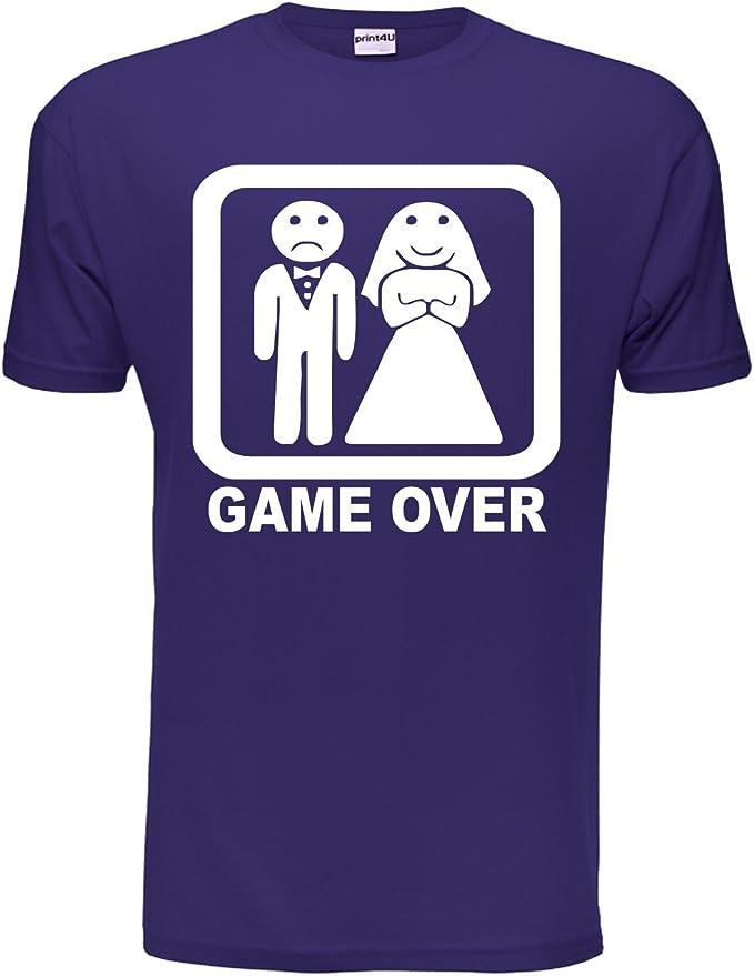 Game Over Gracioso Despedida Soltero Despedida De Soltero Boda camiseta hombre Tallas Ch-EEG: Amazon.es: Ropa y accesorios