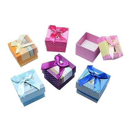 NBEADS 24 Cajas de cartón para Anillos con Forma de Cubo, Caja de joyería con