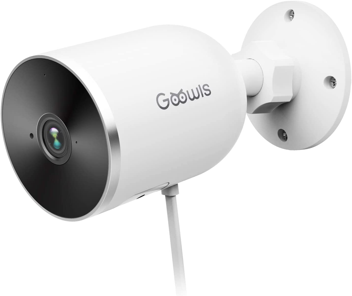 Security Camera Outdoor, Goowls 1080P WiFi Camera Home Security Surveillance Wired IP Camera Waterproof Motion Detection Night Vision 2-Way Audio Cloud Service SD Storage Works with Alexa