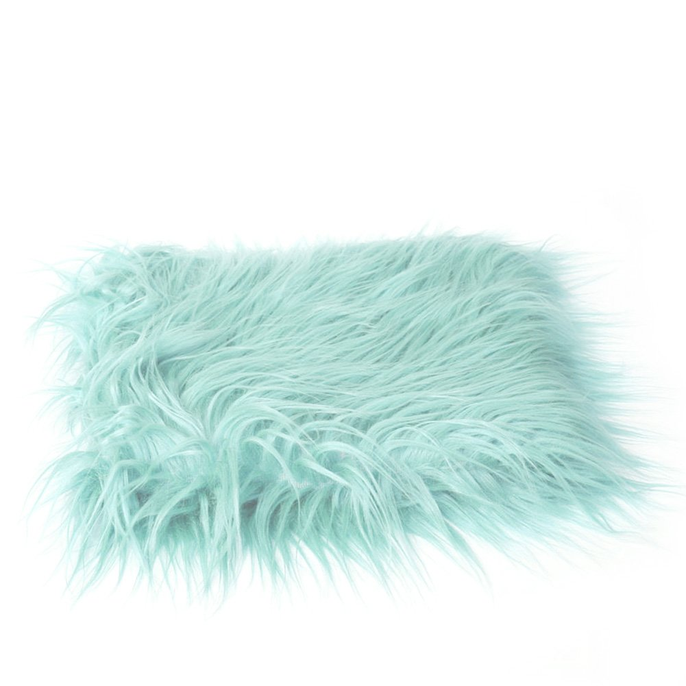 Slaxry Newborn Baby Infant Faux Fur Blanket Photography Props Rug Mat Backdrop
