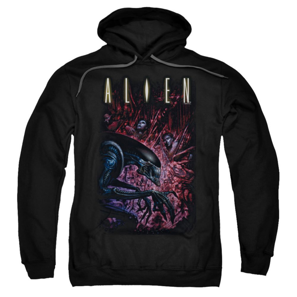 Alien 1979 Science Fiction Horror Movie Logo Collection Adult Pull-Over Hoodie Trevco