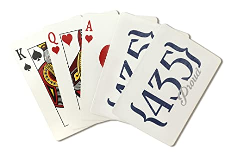 Amazoncom Park City Utah Area Code Blue Playing Card - 435 area code