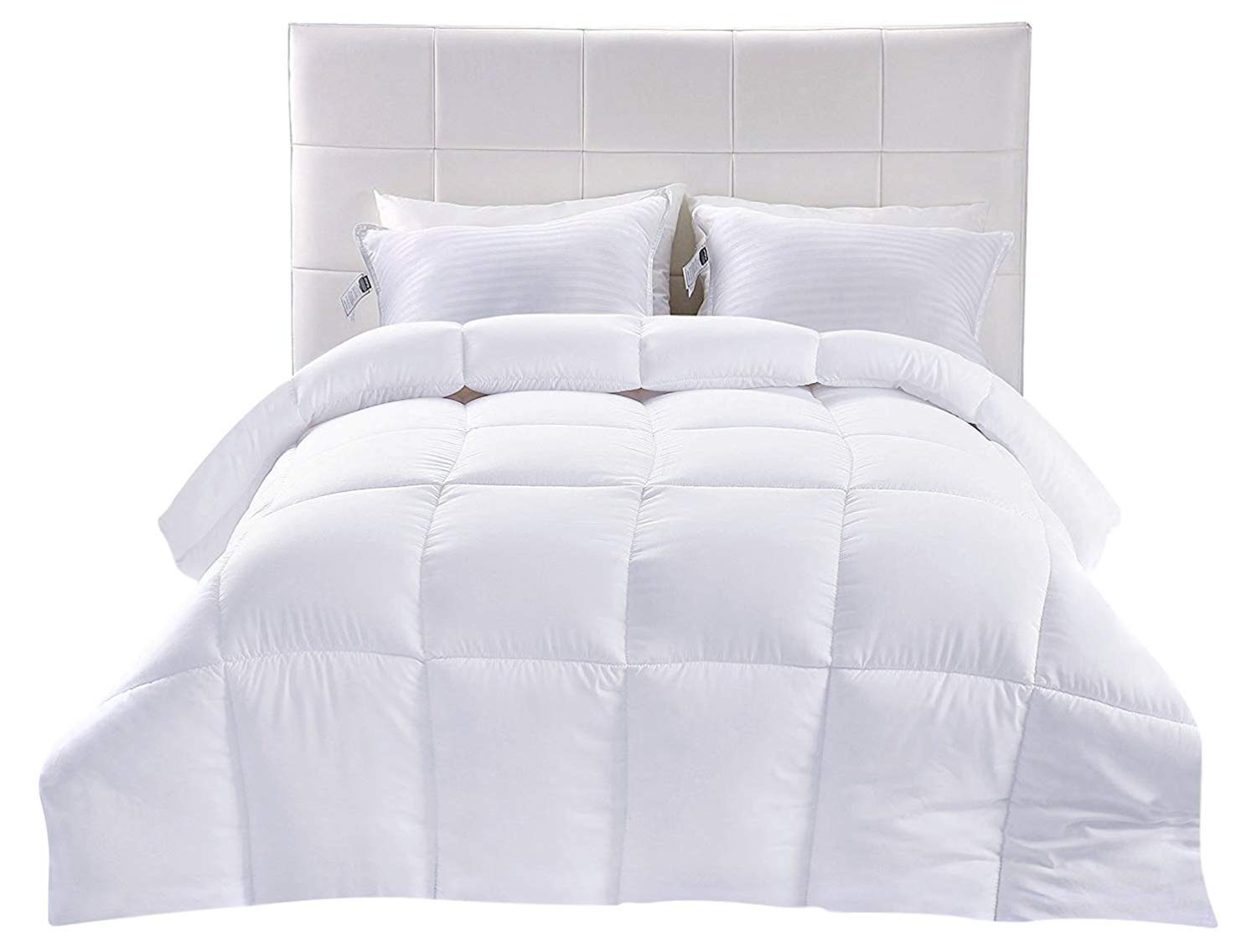 Utopia Bedding Lightweight Comforter, Ultra Soft Down Alternative (White, Twin) - All Season Comforter - Plush Siliconized Fiberfill Duvet Insert - Box Stitched FBA_B01JPECQF8