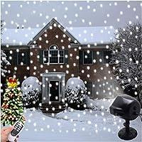 Projecteur de neige de Noël Lumières Intérieur Extérieur Halloween Décoration led Neige Chute de lumières Télécommande Paysage Rotation Lumière