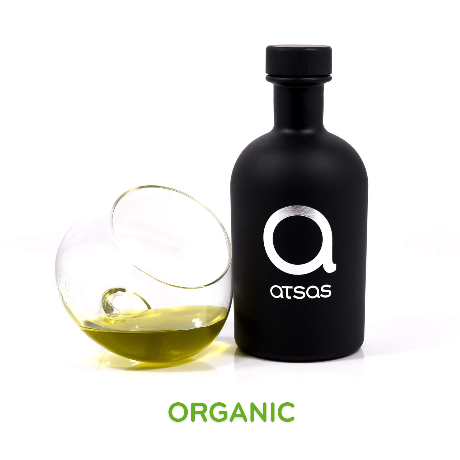 Pure Organic Extra Virgin Olive Oil with High Phenolic Content | Rich in Health-Boosting Phenols and Organic Oleocanthal Compound | Premium Product of Cyprus (Atsas Organic 250ml) by Atsas