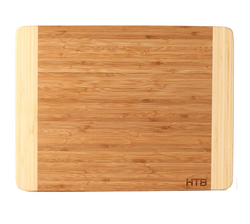 HTB 100% Bamboo Cutting Board,Thick Bamboo For Food Prep, Making Cocktails or Serving Appetizers 03L by HTB (Image #1)