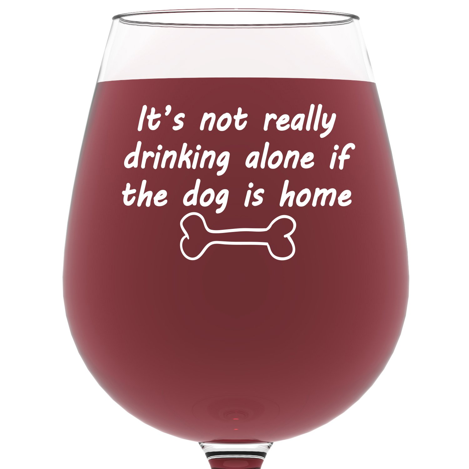 Amazon.com | If The Dog Is Home Funny Wine Glass - Best Christmas ...