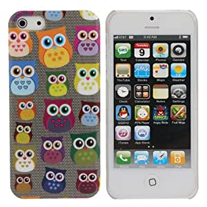 MaxSale Lovely Colorful Little Owls Pattern Protective Case For iPhone 5