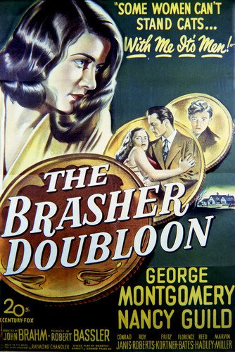- George Montgomery and Nancy Guild in The Brasher Doubloon 24x36 Poster