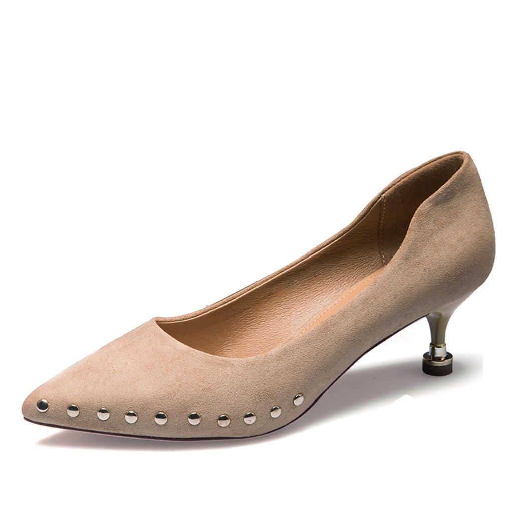 JIANXIN Mit Frühlings- Und Sommer-Spike-Brille Für Damen Mit JIANXIN Hohen Absätzen Und Eleganten Schuhen. (Farbe   Aprikose größe   EU 37 US 6 UK 4 JP 24cm) 3ab07d