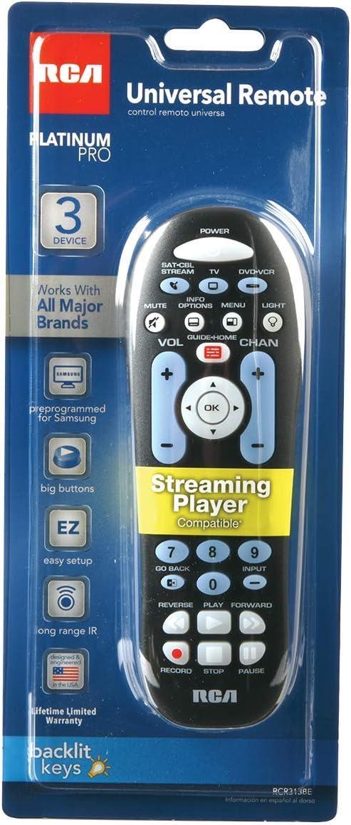 RCA RCR313BR 3-Device Universal Remote Control Accessories ...