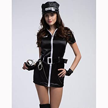 DuuoZy Womenu0027s Sexy Policewoman Uniform Costume Set Cosplay Fancy Dress  black  one size  sc 1 st  Amazon UK & DuuoZy Womenu0027s Sexy Policewoman Uniform Costume Set Cosplay Fancy ...