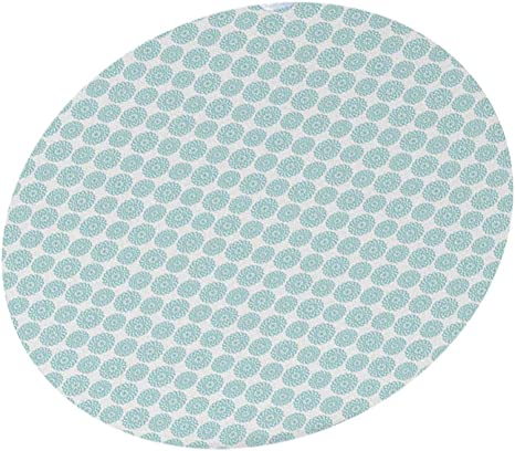 for Indoor//Outdoor Use YILE Vinyl Round Fitted Tablecloth Flower, 40-44 inch Fits Easily Around Any Round Table Up to 40-44 Diameter Elastic Edged Flannel Backed
