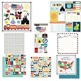 Scrapbook Customs Themed Paper & Stickers Scrapbook Kit, Anaheim City Memories