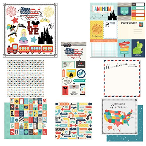 Scrapbook Customs Themed Paper and Stickers Scrapbook Kit, Anaheim City Memories]()