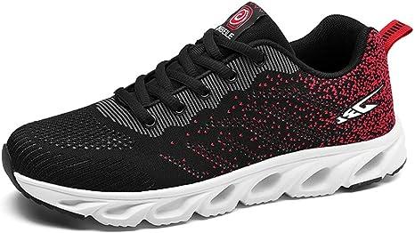 Shoe house Zapatillas de Running para Hombre, de Malla, Transpirables, Ligeras, para Deportes, Caminar, Entrenamiento, C, EU43=US8.5(M): Amazon.es: Deportes y aire libre