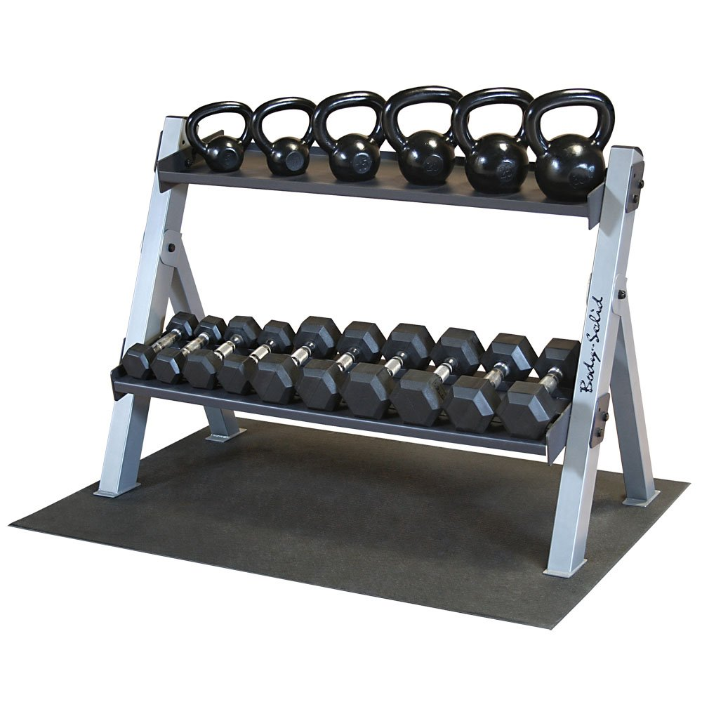 Body Solid GDKPACK Kettlebell Rack with Weights