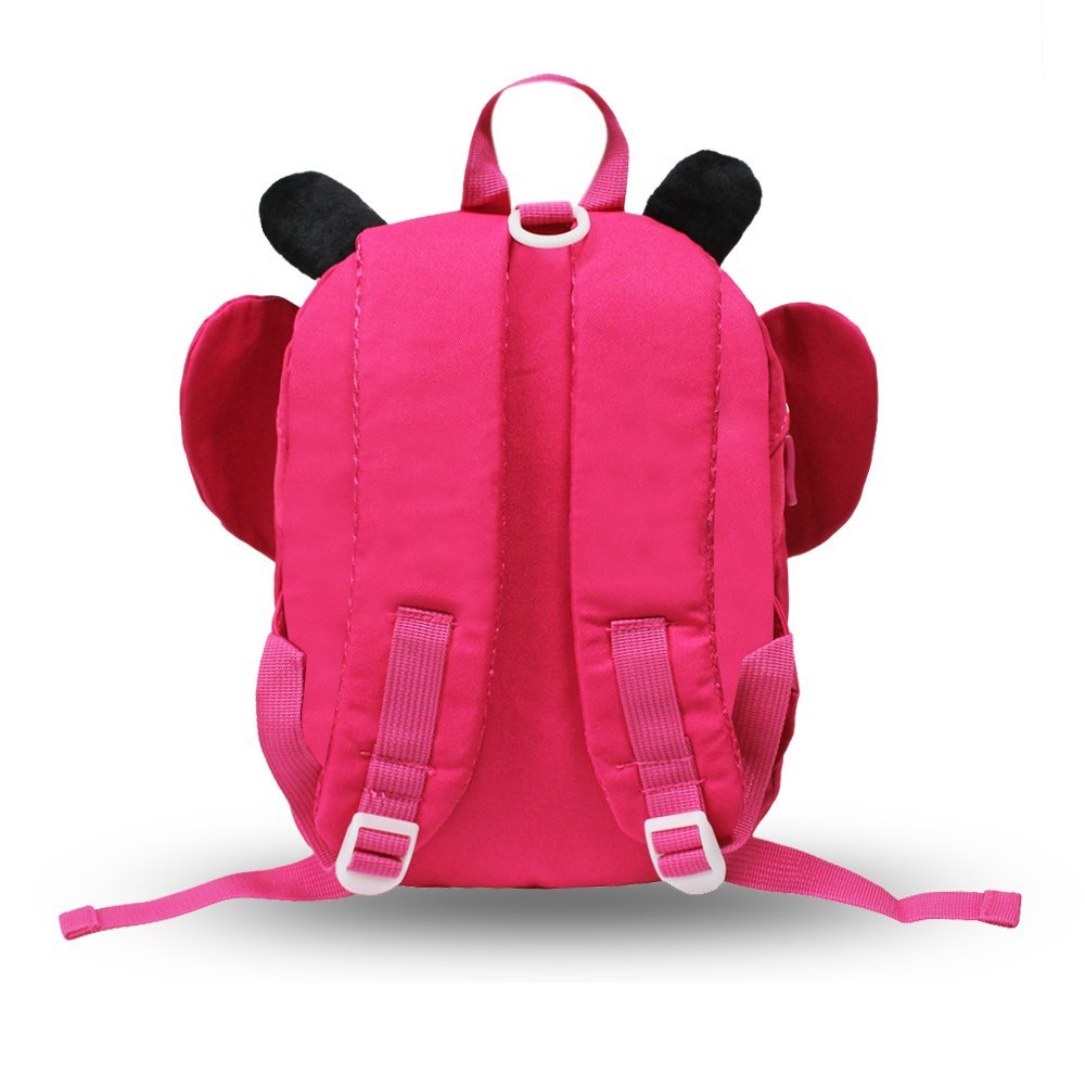 GinTai Canvas Butterfly Kid's Backpack Rose Red by GinTai (Image #3)