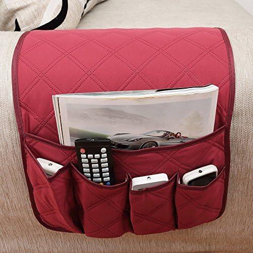 huateng Divano Divano Sedia Bracciolo Organizzatore Divano Side Caddy per Handy Phone Libri riviste Portatili Telecomando TV Storage Tasche