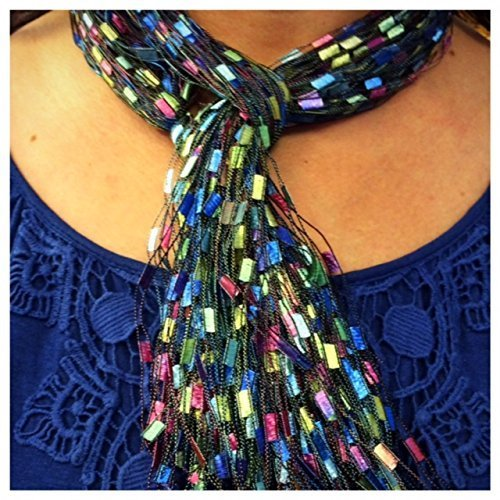 Scarf Yarn Ribbon Necklace Pastel Easter Mothers (Trellis Scarf)