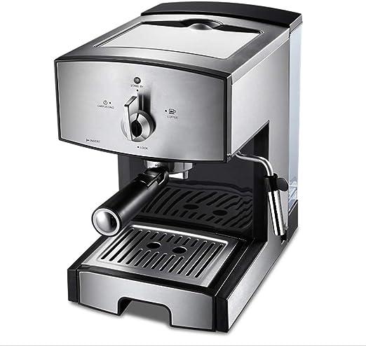 Máquina de espresso, Cafetera Espresso Steam & Pump 20 bar de presión/1.25 litros/1350 vatios/Espuma de leche de vapor para el Hogar/Oficina - Plata: Amazon.es: Hogar
