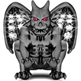 GNOCE Noble Black Gargoyle Charm with Crystal 925 Sterling Silver Good Luck Symbol Charm Bead Fit All Bracelets and Necklace