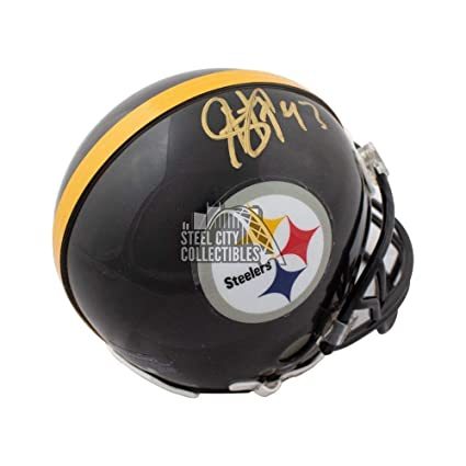 sports shoes f5cef b3fe9 Troy Polamalu Autographed Signed Pittsburgh Steelers Mini ...