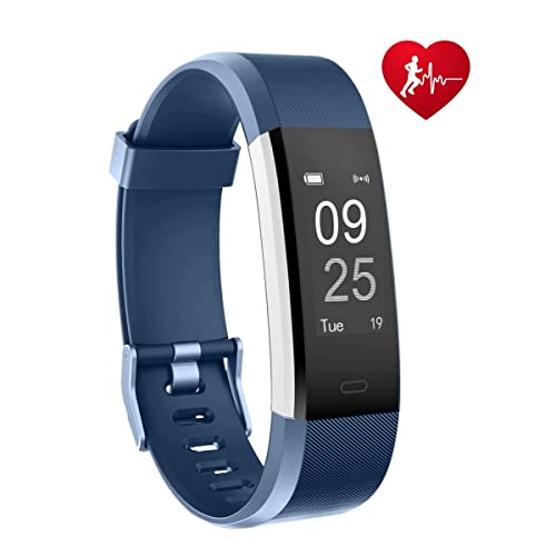 TOOBUR Fitness Tracker, Smart Watch Activity Tracker with Heart Rate Pedometer Calorie and Sleep Monitor, Waterproof Step Counter Wristband for Android and iOS