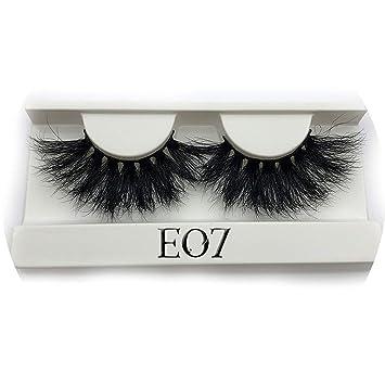 8d735315f6f Amazon.com : Peony red 25mm Long 3D mink lashes E01 extra length mink  eyelashes Big dramatic volumn eyelashes strip thick false eyelash, C, E07  only tray : ...