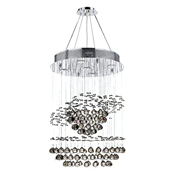 Worldwide lighting saturn collection 5 light chrome finish and clear worldwide lighting saturn collection 5 light chrome finish and clear crystal galaxy chandelier 18quot d aloadofball Choice Image