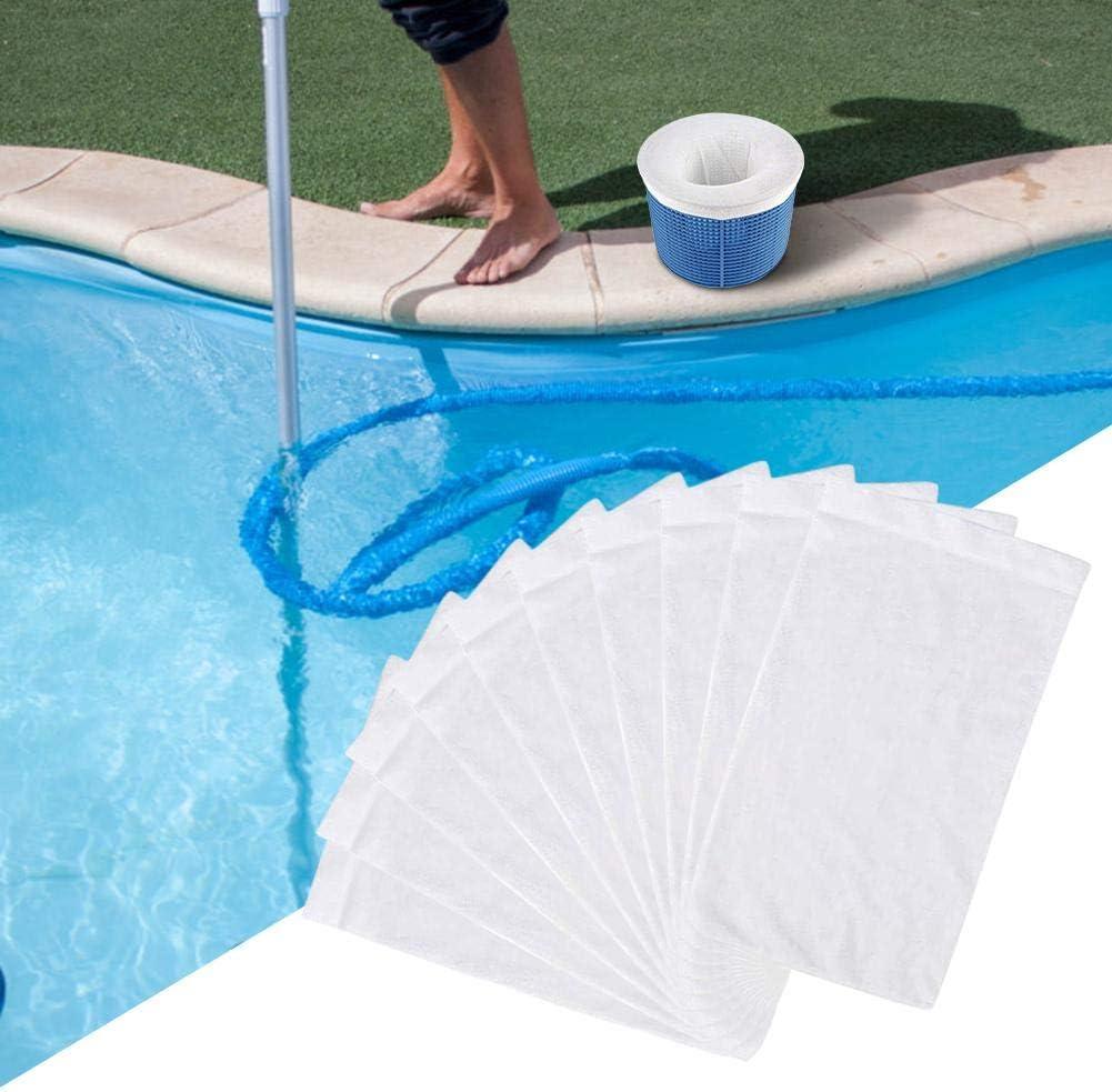 Pool Filter Saver Socken Netz f/ür Filter Skimmer Korb Nylon Fine Mesh Pool Skimmer Socken f/ür Schwimmbad Korb PW TOOLS 10 St/ück Schwimmbad Skimmer Socken 22x13cm
