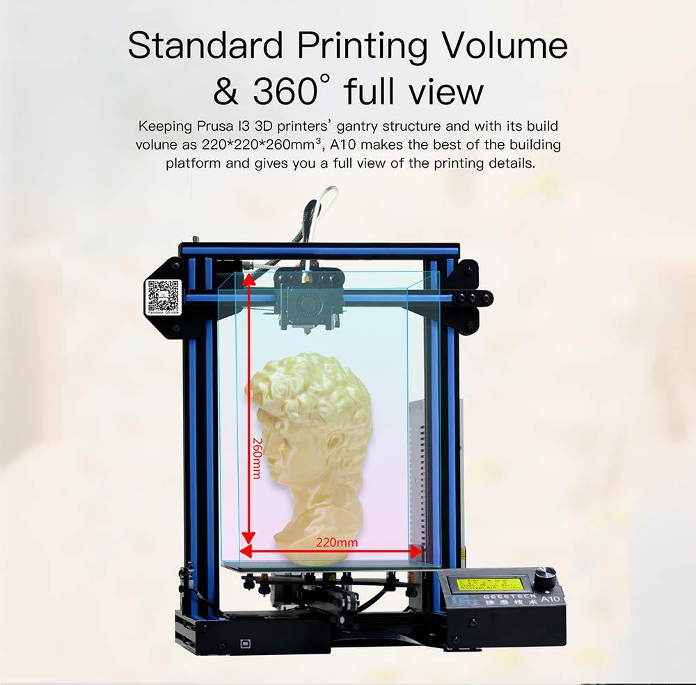 dogar geeetech A10 impresora 3d Prusa i3 montaje fácil y rápido ...