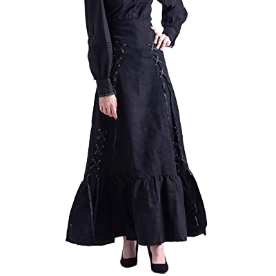BLESSUME Victorian Corset Skirt High Low Punk Skirt Gothic Women Costume: Clothing