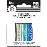 me & my BIG ideas WTSS-02 The The Happy Planner Mini Washi Tape, Blue Hues