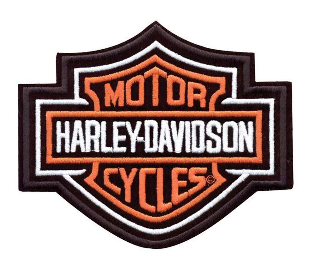 Amazon Harley Davidson Bar Shield Patch Orange X X Large