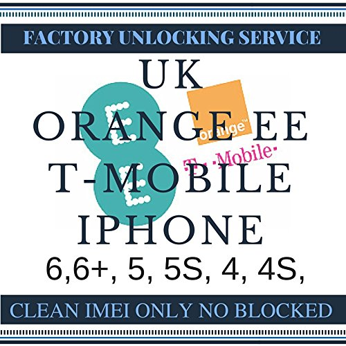 Orange, T-Mobile & EE United Kingdom Factory Unlock iPhone 2G, 3G, 3GS, 4, 4S, 5, 5S, 5C, 6, 6 Plus (Clean Express) Factory Unlocking Codes. This unlocking service provides IMEI unlock codes for Orange T-Mobile & EE UK mobile phones. Your device will be unlocked permanently and operate on any GSM network worldwide. - Unlocked Service Iphone 6