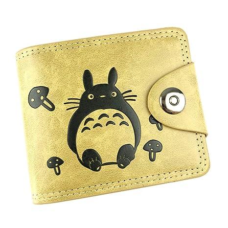 Cosstars My Neighbor Totoro Anime Cartera de Cuero Artificial Monedero Tríptico Billetera Clásico Portatarjetas para Hombre