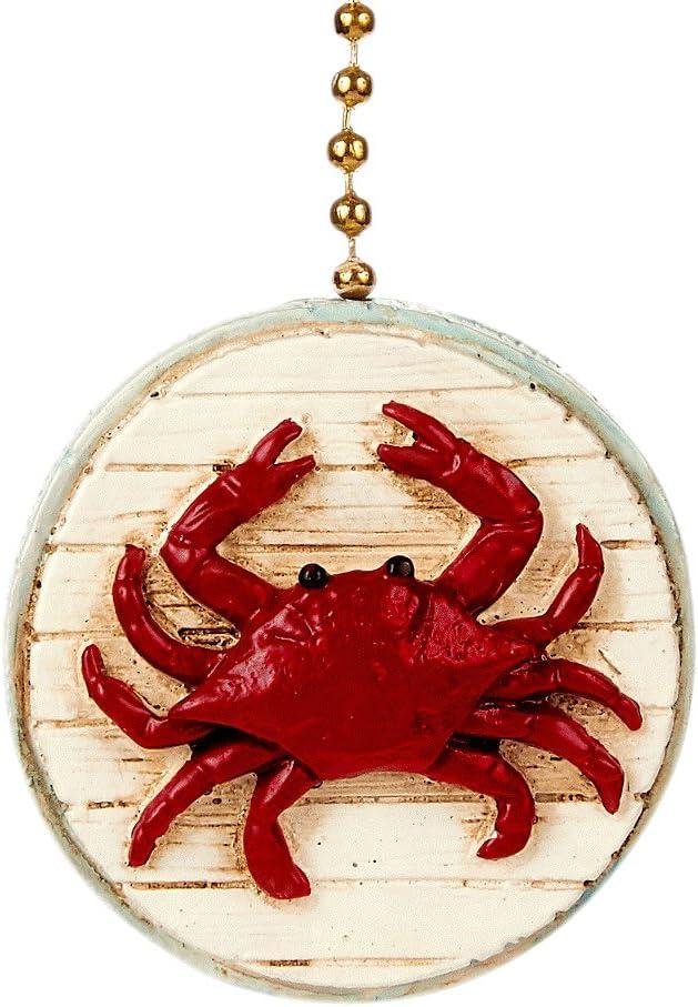 Red Crab 2D Beach Ceiling Fan Pull - Beach Decor