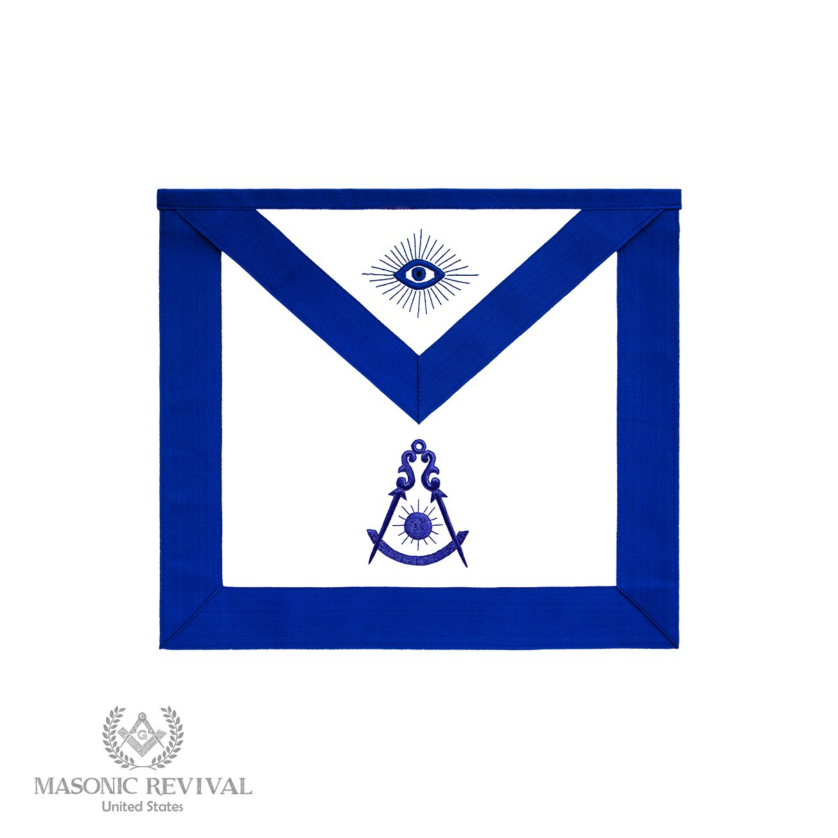 Masonic Revival - 過去のマスターエプロン (ラムスキン)   B07LH8DGMQ