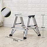 YIZI HAIPENG Ladder High Stool Folding Stool Herringbone Ladder Aluminum Alloy Chair Foldable Dual-use Utility 6 Sizes Available 37x36cm (Size : 1step)