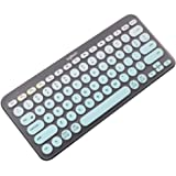 Masino Silicone Keyboard Cover Ultra Thin Protective Skin for Logitech Bluetooth Multi - Device Keyboard Cover K380 (Model: K380) Gradient- Turquoise Blue for Logitech K380