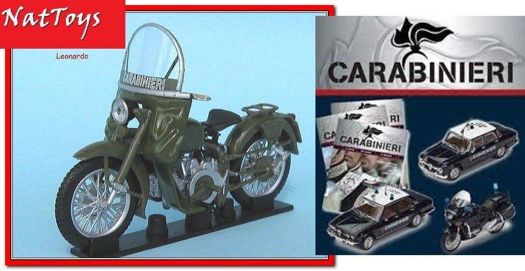 fas.33 Carabinieri Moto Guzzi Falcone 500 1967 De Agostini 1:24 Die Cast Model