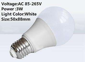 DSstyles 3 Bombillas LED de 3/5/7/9/12/15