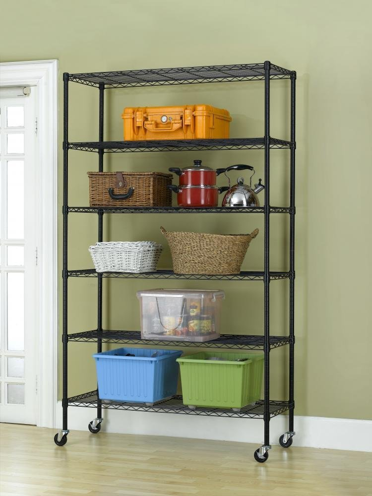 "New 82""x48""x18"" 6 Tier Layer Shelf Adjustable Wire Metal Shelving Rack"