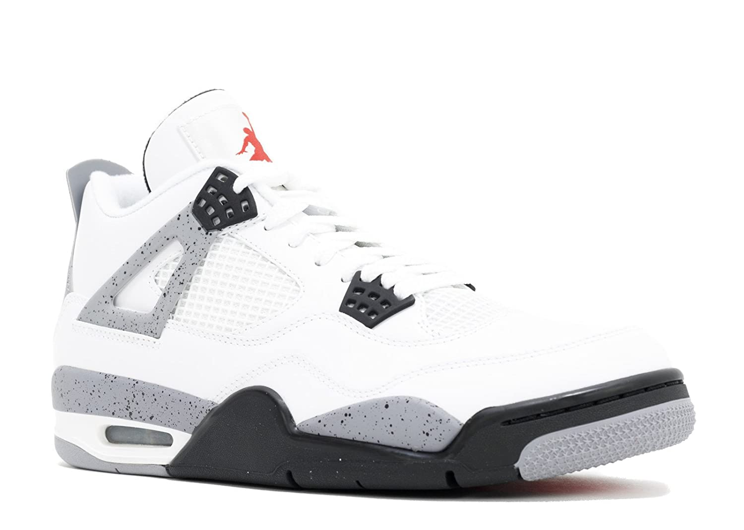 Nike AIR Jordan 4 Retro Mens 308497-103 (14, White/Black-Cement Grey)