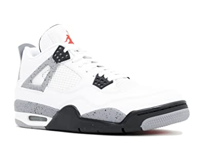 4a0b2812161d Nike Air Jordan 4 Retro White Cement 308497-103 Basketball Sneaker Men sz  7.5