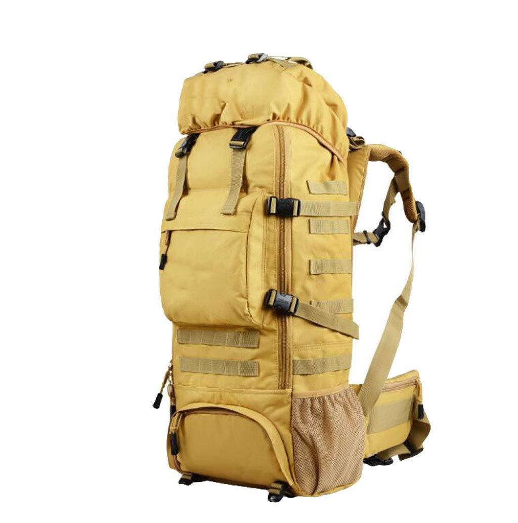 JSHFD Sac d'alpinisme Professionnel Sac à Dos de Grande capacité de Voyage en Plein air Sac à Dos de Grande capacité étanche 75L Le jaune -