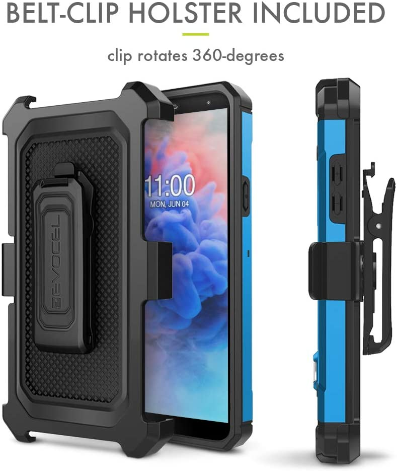 Explorer Series Pro LG Stylo 5 Case Evocel Camouflage Premium Full Body Case with Glass Screen Protector Belt Clip Holster Metal Kickstand for LG Stylo 5